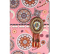 economico -Per mela ipad mini1 2 3/4 copertina caso con stelo flip modello pieno corpo astuccio linee / onde fiore hard pu leather