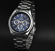 Недорогие -CHENXI® Муж. Нарядные часы Модные часы Наручные часы Кварцевый Японский кварц Защита от влаги Группа С подвесками Серебристый металл