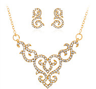 cheap -Women's Jewelry Set Necklace Rhinestone Alloy Geometric Euramerican Fashion Wedding Party Special Occasion Anniversary Birthday