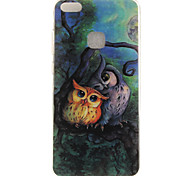 cheap -Case For Huawei IMD Pattern Back Cover Owl Soft TPU for P10 Lite P10 P8 Lite (2017) Honor 6X Huawei Y6 II / Honor Holly 3 Huawei Y5 II /