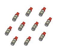 cheap -10Pcs T10 9*5050 SMD LED Car Light Bulb Bule Light DC12V