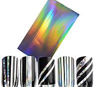 1pcs Стикер искусства ногтя Блеск & порошок 3D наклейки на ногти Фольга зачистки ленты макияж Косметические Ногтевой дизайн