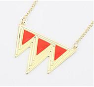 Муж. Жен. Ожерелья с подвесками Ожерелья-цепочки Бижутерия Геометрической формы Треугольной формы Сплав Базовый дизайн Уникальный дизайн