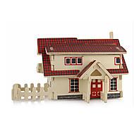 Недорогие -3D пазлы Пазлы Деревянные игрушки Наборы для моделирования Знаменитое здание Архитектура 3D моделирование Своими руками Дерево Классика