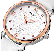 cheap -Women's Fashion Watch Japanese / Leather Band Casual Black / White / Brown
