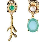 Women's Drop Earrings Fashion Mismatch Resin Rhinestone Alloy Geometric Jewelry For Housewarming Graduation