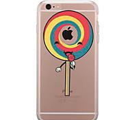 Недорогие -Кейс для Назначение Apple iPhone 7 Plus iPhone 7 Прозрачный С узором Кейс на заднюю панель Композиция с логотипом Apple Продукты питания