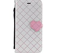Недорогие -Кейс для Назначение Apple iPhone 7 Plus iPhone 7 Бумажник для карт Кошелек со стендом Чехол Полосы / волосы С сердцем Твердый Кожа PU для