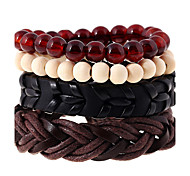 cheap -Men's Women's Leather Leather Bracelet - Fashion Geometric Rainbow Bracelet For Wedding Party Sports