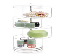 cheap -Textile Plastic Oval Plastic Travel Transparent Home Organization, 1pc Desktop Organizers Makeups Storage Jewelry Boxes Jewelry