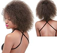 Недорогие -Парики из искусственных волос Кудрявый Афро Природные волосы плотность Без шапочки-основы Жен. Коричневый Черный Красный Карнавальный
