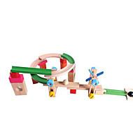 Недорогие -Конструкторы Обучающая игрушка Треки Для получения подарка Конструкторы Дерево 2-4 года 5-7 лет Игрушки