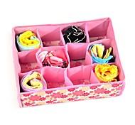 cheap -1Pcs  12 Grid Bag Non-Woven Fabric Folding Case Storage Box For Bra Socks  Underwear Organizer For Cloth Print Storage