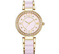 SK Women's Women Fashion Watch Necklace Watch Simulated Diamond Watch Japanese Quartz Water Resistant / Water Proof Shock Resistant Alloy