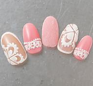 Недорогие -1 бутылка новой моды сладкий стиль конфеты цветов ногтей искусство DIY блеск сахар покрытие порошок голографический пигмент маникюр