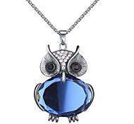 Жен. Ожерелья-бархатки Ожерелья с подвесками Ожерелья-цепочки Имитация Алмазный В форме животных Стразы Стекло СплавБазовый дизайн