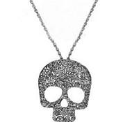 Hombre Mujer Collares con colgantes Collares de cadena Joyas Forma de Cráneo LegierungDiseño Básico Diseño Único Colgante Diamantes