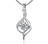Жен. Ожерелья с подвесками Стерлинговое серебро Цирконий Уникальный дизайн бижутерия Бижутерия Назначение Свадьба Для вечеринок Особые