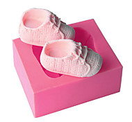1Pcs  New 3D Baby Shoe Silicone Mold Fondant Cake Biscuits DIY Molds Cake Decoration Tools