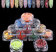 cheap -12 Fashion Multi-shade Colorful Small Size Daily Nail Art Design