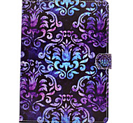 cheap -Case For Apple iPad 4/3/2 iPad Air 2 iPad Air Card Holder Wallet with Stand Flip Magnetic Pattern Full Body Cases Mandala Lace Printing