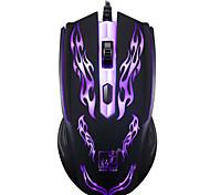 Недорогие -Игровая мышь профессиональный 1200 точек на дюйм 1,2 м проводной LOL игры USB красочные светодиодные лампы дыхания ноутбук ноутбук мода 4d
