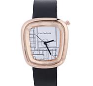 cheap -Women luxury Brand Fashion Square Casual Quartz Unique Stylish Watches Small Female Leather Watch Wrist