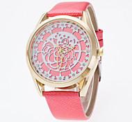 Mulheres Relógio de Moda Chinês Quartzo Couro Tecido Banda Pendente Cores Múltiplas