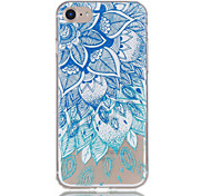 For Apple iPhone 7 7 Plus 6S 6 Plus Case Cover Blue And White Pattern Relief Varnish TPU Material Does Not Fade Phone Case