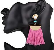 preiswerte -Damen Quaste Tropfen-Ohrringe - Quaste, überdimensional Rot / Blau / Rosa / Lila Für Hochzeit / Party / Besondere Anlässe