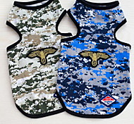 Other Vest Dog Clothes Cute Casual/Daily Camouflage Green Blue