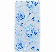 cheap -For Sony XA Ultra X COMPACT Case Cover Translucent Pattern Back Cover Case Blue Rose Soft TPU for Sony Xperia C6 XA E5 X PERFOR