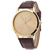 cheap -Men's Quartz Wrist Watch Hot Sale Leather Band Minimalist Fashion Black White Brown
