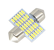 Недорогие -2x-festoon-31mm-30-smd-3014-white-led-car-dome-light-lamp-bulbs-3021-6428-de3175 12-24v