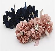 Недорогие -Собака Ошейники Компоненты для самостоятельного изготовления Складной Регулируется Цветы Кружево Ткань Синий Розовый