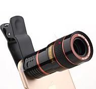 Недорогие -Универсальный hd 8x регулируемый фокус оптический телескоп объектив камеры мобильного телефона с зажимом, подходящим для телефонов iphone