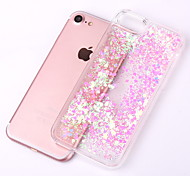 cheap -Case For Apple iPhone X iPhone 8 iPhone 8 Plus iPhone 5 Case Flowing Liquid Transparent Back Cover Glitter Shine Hard PC for iPhone X