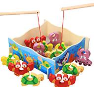 Недорогие -Конструкторы Рыболовные игрушки Для получения подарка Конструкторы Хобби и досуг Дерево 2-4 года 5-7 лет Игрушки
