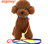 cheap -Cat Dog Collar Leash With Bell 210D Nylon