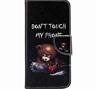 Недорогие -Кейс для Назначение Huawei Honor V8 Huawei Honor 5C Huawei Бумажник для карт Кошелек со стендом Флип С узором Чехол Твердый для P10 Plus