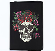 For iPad 2017 9.7inch Luxury Genuine leather Cases Cover Embossed  3D Cartoon skull Case For ipad Air2/Air1/ipad Pro 9.7