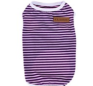 cheap -Cat Dog Shirt / T-Shirt Dog Clothes Stripe Orange Purple Red Green Pink Cotton Costume For Pets Men's Women's Casual/Daily