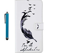 For Apple iPhone 7 Plus 7 6s Plus 6s 5 5s se Case Cover Card Holder Wallet with Stand Flip Pattern Full Body Case With Stylus Feathers Hard PU Leather