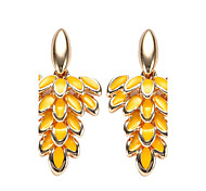 cheap -Women's Leaf Drop Earrings - Bohemian Orange Dark Blue Yellow Fuchsia Red Leaf Earrings For Party Daily Casual Stage