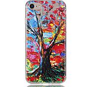 Недорогие -Для яблока iphone 7 7 плюс 6s 6 плюс чехол чехол цвет дерево шаблон рельеф лак tpu материал не затухает корпус телефона