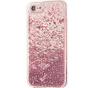 For iPhone 8 iPhone 8 Plus Case Cover Rhinestone Flowing Liquid Transparent Back Cover Case Glitter Shine Hard PC for Apple iPhone 8 Plus