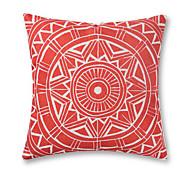 1 Pcs Baroque Design Red Pattern Pillow Cover Cotton/Linen Pillow Case 45*45Cm