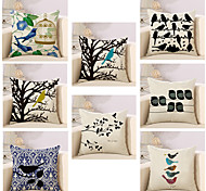 cheap -8 pcs Cotton/Linen Pillow Case Pillow Cover, Fashion Animal Novelty Vintage Casual European Neoclassical Traditional/Classic Retro