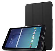 para Samsung galaxy tab 8.0 e t377v de lujo delgada del caso del soporte de cuero de la PU, cuero de la PU cubierta de la cáscara