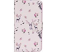 Недорогие -Кейс для Назначение SSamsung Galaxy S8 Plus S8 Бумажник для карт Кошелек со стендом Флип Магнитный С узором Чехол Животное Твердый Кожа PU